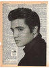 Art N Wordz Elvis Presley Original Dictionary Sheet Pop Art Wall or Desk Art Print Poster