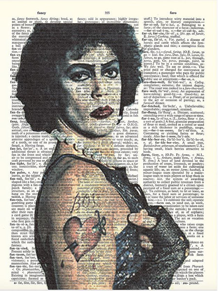 Art N Wordz Rocky Horror Picture Show Frank N Furter Original Dictionary Sheet Pop Art Wall or Desk Art Print Poster