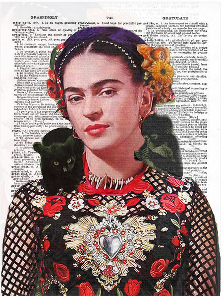 Art N Wordz Frida Kahlo Nature Original Dictionary Sheet Pop Art Wall or Desk Art Print Poster