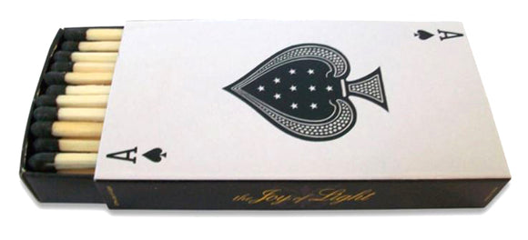 The Joy of Light Designer Matches Ace of Spades Playing Card Embossed Matte 4
