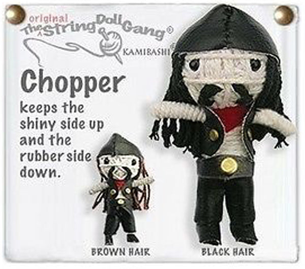 Kamibashi Chopper the Motorcycle The Original String Doll Gang Keychain Clip