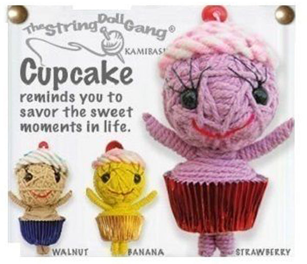 Kamibashi Cupcake Sweet The Original String Doll Gang Keychain Clip