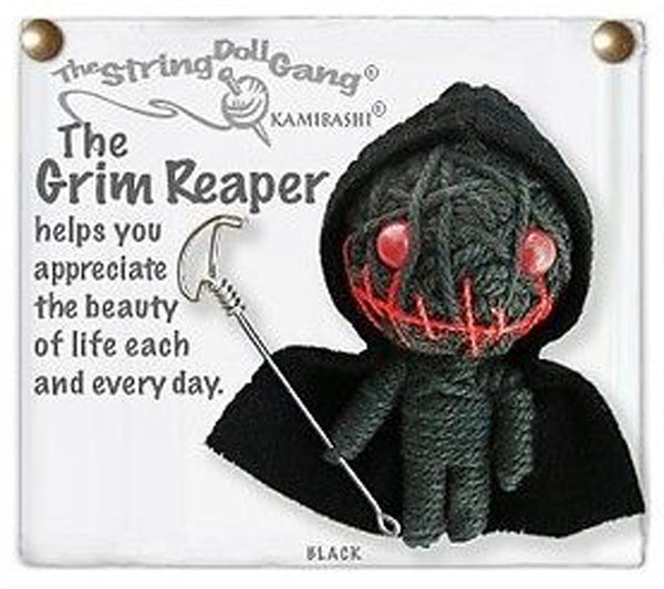 Kamibashi The Grim Reaper The Original String Doll Gang Keychain Clip