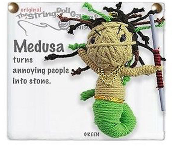 Kamibashi Medusa The Original String Doll Gang Keychain Clip