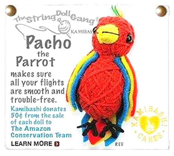 Kamibashi Pacho the Parrot Bird The Original String Doll Gang Keychain Clip