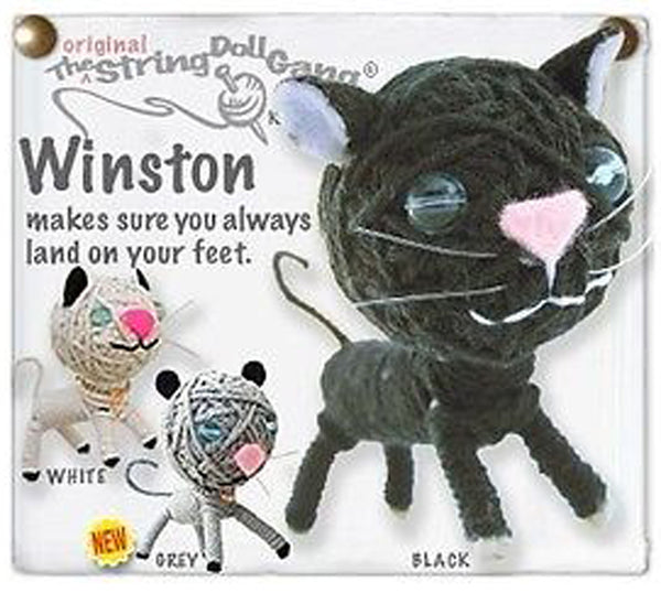 Kamibashi Winston the Cat Kitten The Original String Doll Gang Keychain Clip