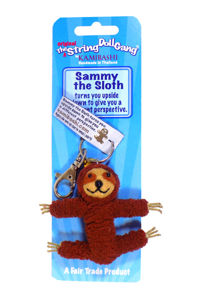 Kamibashi Sammy The Sloth Flower The Original String Doll Gang Keychain Clip