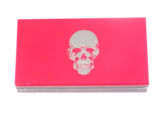 The Joy of Light Designer Matches Silver Foiled and Embossed Skull on Pink Embossed Matte 4