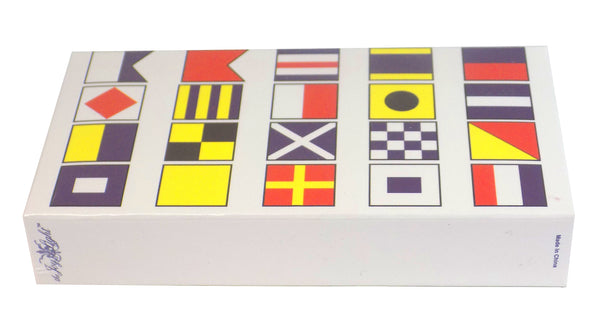 "The Joy of Light Designer Matches Nautical Signal Flags Embossed 4"" Collectible Matchbox"