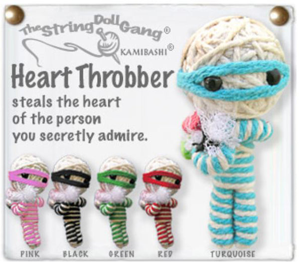 Kamibashi Heart Throbber The Original String Doll Gang Handmade Keychain Toy & Clip