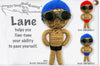 Kamibashi Lane Boy Swimmer The Original String Doll Gang Handmade Keychain Toy & Clip