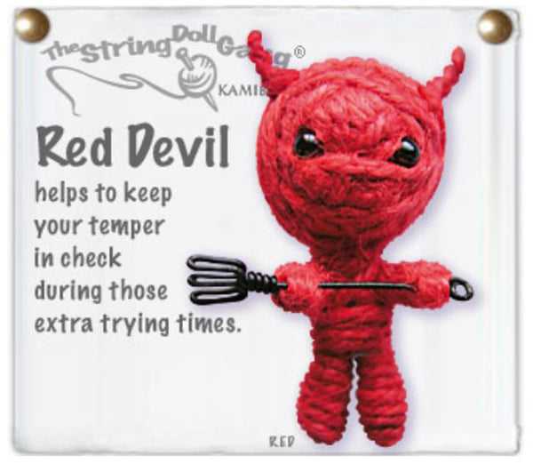 Kamibashi Red Devil The Original String Doll Gang Handmade Keychain Toy & Clip