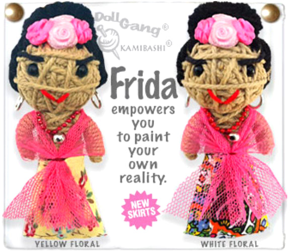 Kamibashi Frida Kahlo The Original String Doll Gang Keychain Clip
