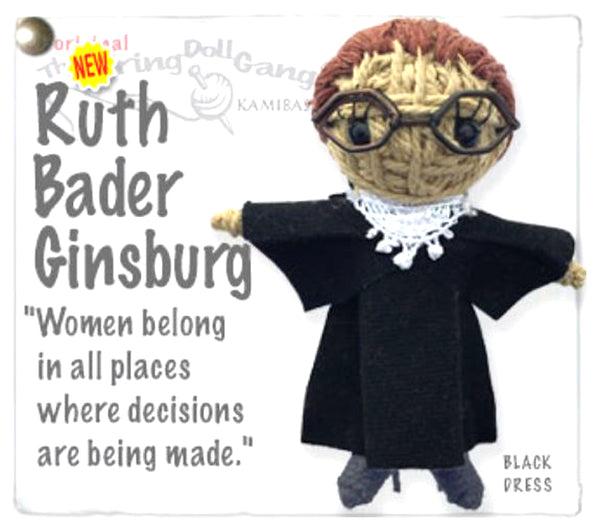 Kamibashi Ruth Bader Ginsberg The Original String Doll Gang Keychain Clip