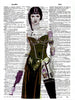 Art N Wordz Star Wars Princess Leia Tattooed Original Dictionary Sheet Pop Art Wall or Desk Art Print Poster