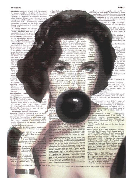 "Art N Wordz Elizabeth ""Liz"" Taylor Bubble Original Dictionary Sheet Pop Art Wall or Desk Art Print Poster"