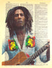 Art N Wordz Bob Marley Dictionary Sheet Pop Art Wall or Desk Art Print Poster