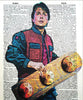 Art N Wordz Back to the Future Marty McFly Original Dictionary Sheet Pop Art Wall or Desk Art Print Poster