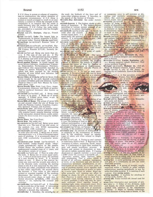 Art N Wordz Marilyn Monroe Bubble Original Dictionary Sheet Pop Art Wall or Desk Art Print Poster