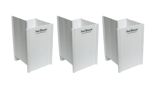 "Post Shields White 4"" L x 4"" W x 6"" H Mailbox & Fence Sleeve Trimmer Protectors- Set of 3"