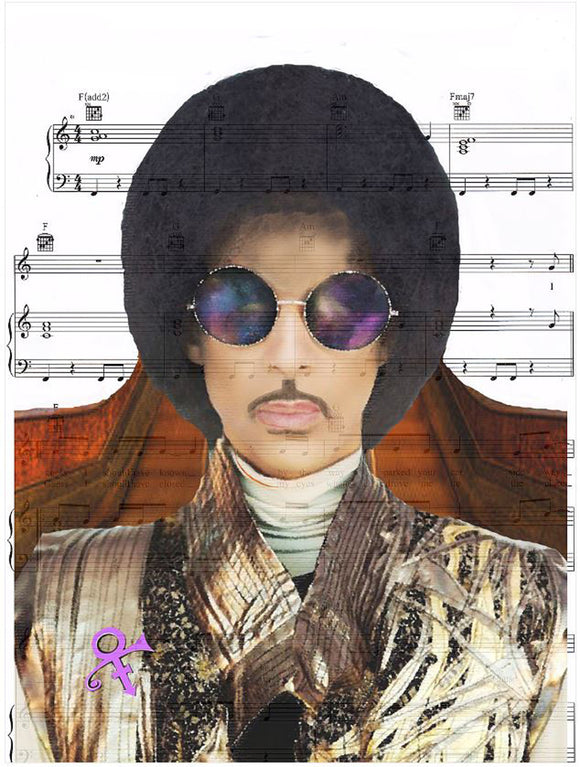 Art N Wordz Artist Formally Known as Prince Original Music Sheet Pop Art Wall or Desk Art Print Poster