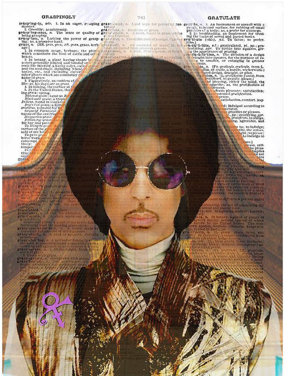Art N Wordz Artist Formally Known as Prince Original Dictionary Sheet Pop Art Wall or Desk Art Print Poster