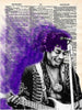 Art N Wordz Jimmy Hendrix Purple Haze Original Dictionary Sheet Pop Art Wall or Desk Art Print Poster