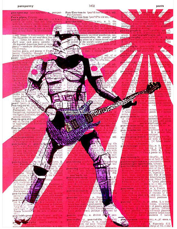 Art N Wordz Star Wars RockStorm Trooper Original Dictionary Sheet Pop Art Wall or Desk Art Print Poster
