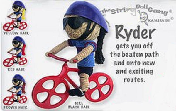 Kamibashi Ryder Bicycle Rider Girl The Original String Doll Gang Keychain Clip