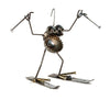 Sugarpost Mini Gnome Be Gone Skier Outdoor Garden Welded Metal Art Sculptures