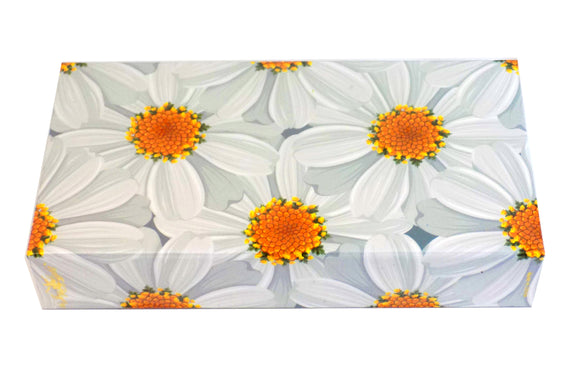 The Joy of Light Designer Matches Daisies on White Embossed 4