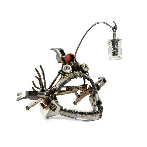 Sugarpost - Metal Sculpture - Hammer Head Angler Fish