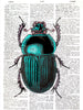 Art N Wordz Egyptian Scarab Original Dictionary Sheet Pop Art Wall or Desk Art Print Poster