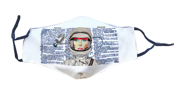 Artnwordz Spaceman Astronaut David Bowie Fashionable Face Mask