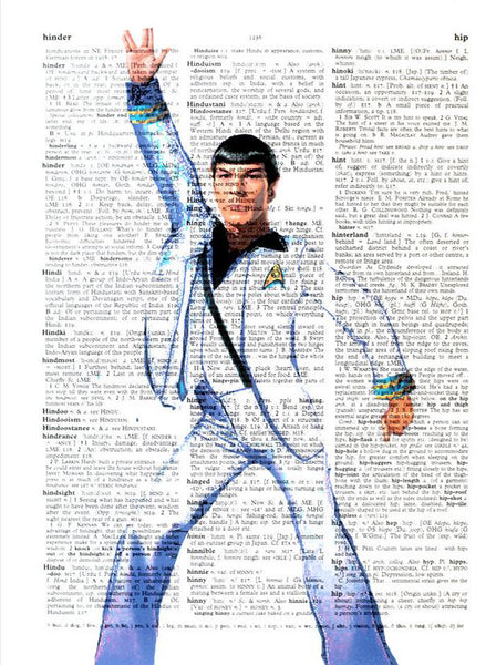 Art N Wordz Disco Spock Travolta Original Dictionary Sheet Pop Art Wall or Desk Art Print Poster