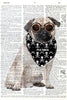 Art N Wordz Steam Punk Pug Original Dictionary Sheet Pop Art Wall or Desk Art Print Poster