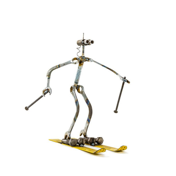 Sugarpost - Metal Sculpture - Ski-Bot
