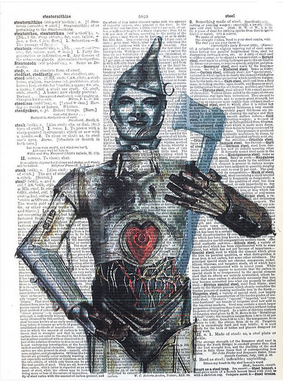 Art N Wordz Wizard of Oz Tin Man Original Dictionary Sheet Pop Art Wall or Desk Art Print Poster
