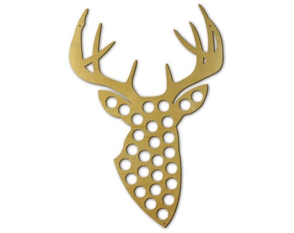 Beer Cap Traps Trophy Buck with Antlers  Bottle Beer Soda Pop Wood Cap Caps Organizer