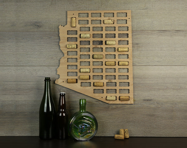 Wine Cork Traps State of Arizona Wooden Wine Cork Holder Organizer Wall Decoration