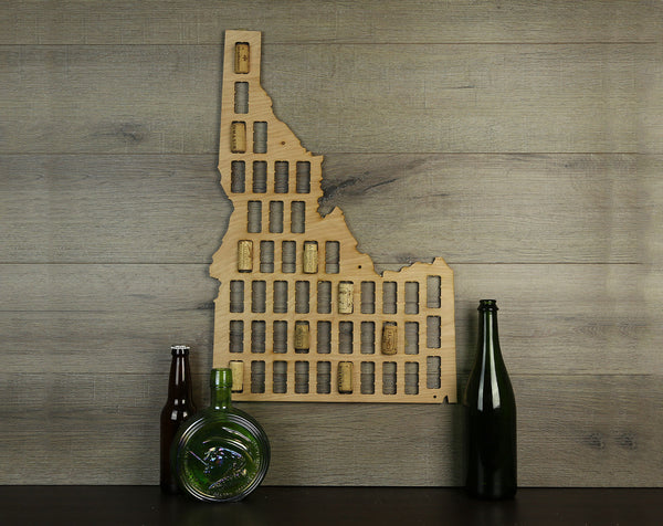 Wine Cork Traps State of Idaho Wooden Wine Cork Holder Organizer Wall Decoration