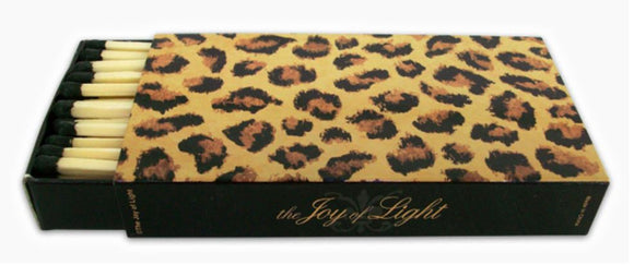 The Joy of Light Designer Matches Leopard Print on Embossed Matte 4