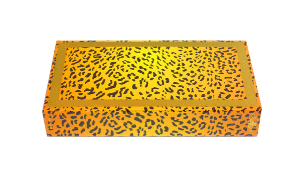 "The Joy of Light Designer Matches Natural Color Cheetah Embossed Matte 4"" Collectible Matchbox"