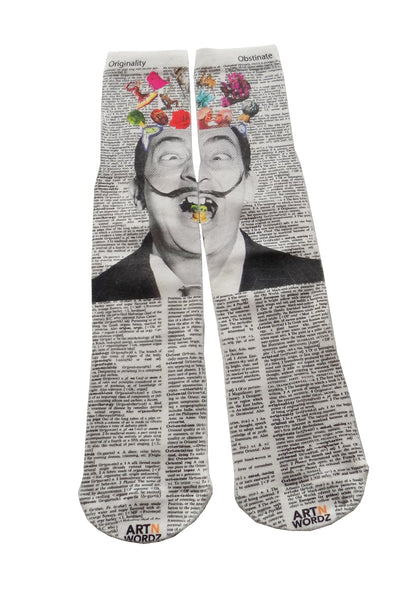 Artnwordz Apparel Hello Salvador Dali Dictionary Pop Art Unisex Socks