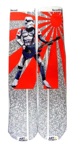 Artnwordz Apparel Star Wars Rockstorm Stormtrooper Record-Recording Dictionary Page Print Pop Art Unisex Socks