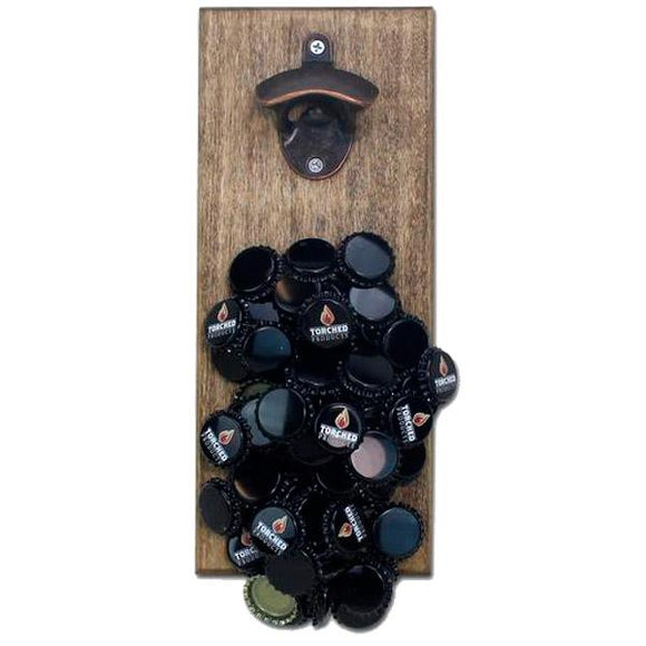 Beer Cap Traps Wall Mount Magnetic Bottle Opener Beer Soda Pop Cap Caps Organizer
