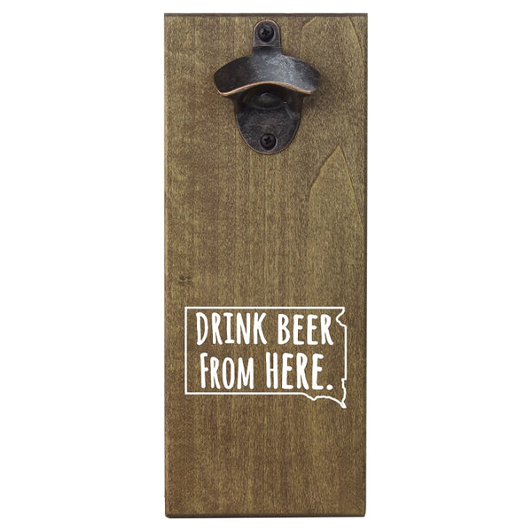 Beer Cap Traps South Dakota Wall Mount Magnetic Bottle Opener Beer Soda Pop Cap Caps Organizer