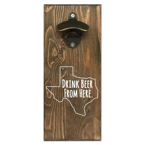Beer Cap Traps Texas Wall Mount Magnetic Bottle Opener Beer Soda Pop Cap Caps Organizer