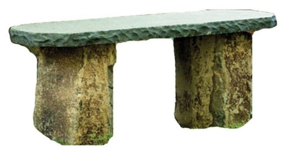 Stone Age Creations BE-BA-1 Basalt Stone Boulder Bench