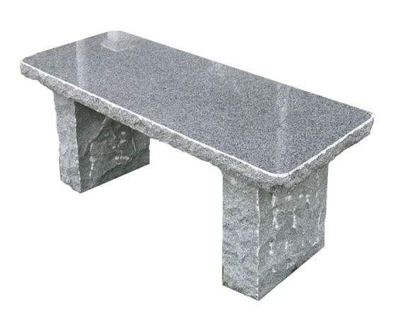 Stone Age Creations BE-GR-4 Charcoal Granite Stone Boulder Bench
